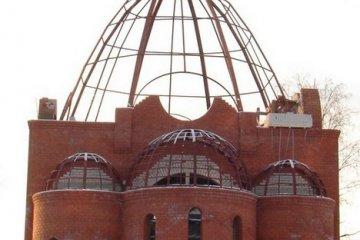 Изготовление верхнего купола церкви