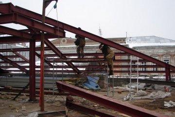 Металлическая конструкция крыши
