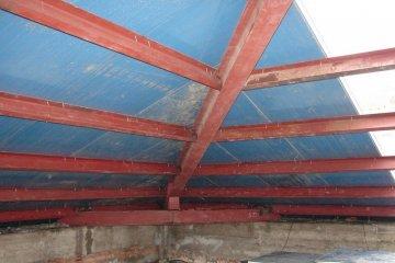 Крыша из металлоконструкций