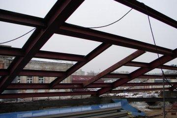 Изготовление конструкции крыши