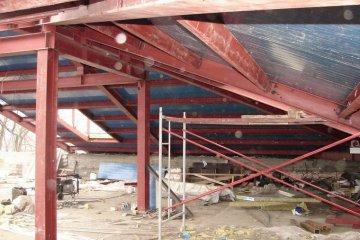 Мансардный этаж из металлоконструкций