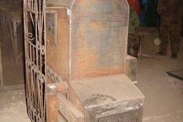 Стальная печь каменка