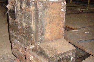 Печь каменка металлическая