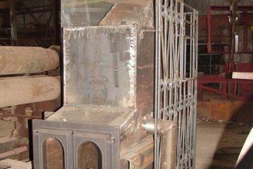 Конструкция банной печи из металла