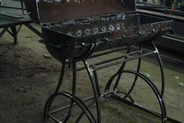 Изготовление металлического мангала